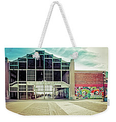 Weekender Tote Bag featuring the photograph Boardwalk Casino - Asbury Park by Colleen Kammerer