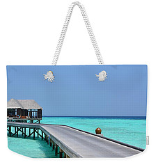 Boardwalk In Paradise Weekender Tote Bag by Corinne Rhode