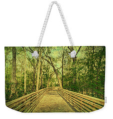Weekender Tote Bag featuring the photograph Boardwalk by Lewis Mann