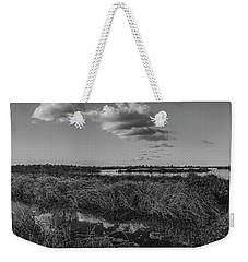 Boardwalk Panorama Monochrome Weekender Tote Bag