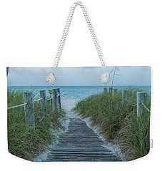 Weekender Tote Bag featuring the photograph Boardwalk To The Beach by Kim Hojnacki