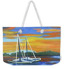 Boat Adrift Weekender Tote Bag