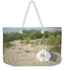 Boat At Chicks Beach Va Beach Chesapeake Bay Weekender Tote Bag by Suzanne Powers