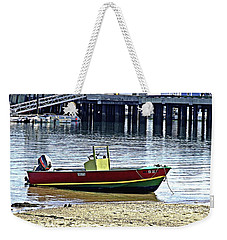 Boat At The Beach Provincetown Weekender Tote Bag