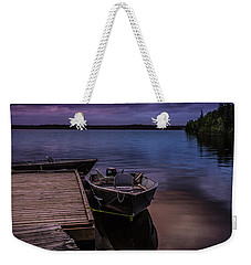 Boat Dock At Sunrise Weekender Tote Bag