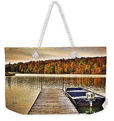 Boat Dock Le-aqua-na II Weekender Tote Bag