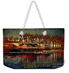 Boat Dock On North Lake Weekender Tote Bag
