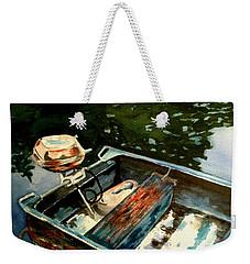Boat In Fog 2 Weekender Tote Bag by Marilyn Jacobson