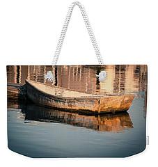 Boat In The Harbor Weekender Tote Bag