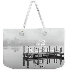 Weekender Tote Bag featuring the photograph Boat In The Sounds Alabama  by John McGraw