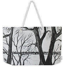 Weekender Tote Bag featuring the painting Boat Landing by Jack G Brauer