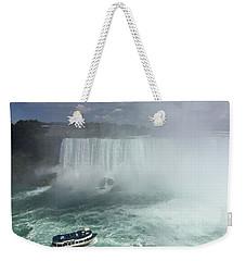 Boat Near Niagara Falls Weekender Tote Bag