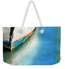 Bow Of An Old Boat Reflecting In Water Weekender Tote Bag by Jill Battaglia