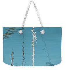 Weekender Tote Bag featuring the photograph Boat Of Ripples by Wendy Wilton