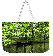 Boat On A Lake Weekender Tote Bag