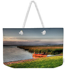 Boat On A Minnesota Lake Weekender Tote Bag