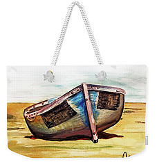 Boat On Beach Weekender Tote Bag