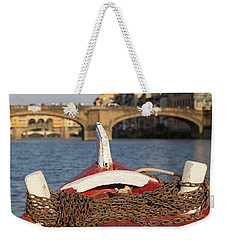 Boat On The Arno River,  Weekender Tote Bag