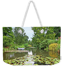 Boat On The Lake Weekender Tote Bag by Gill Billington