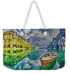 Boat On The Lake Weekender Tote Bag by Maciek Froncisz