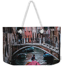 Weekender Tote Bag featuring the photograph Boat On The River by Okan YILMAZ