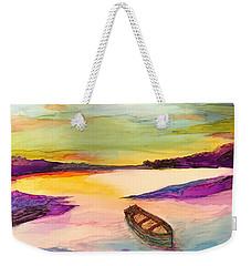 Boat On The River Weekender Tote Bag
