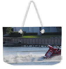 Boat On The Water Weekender Tote Bag by Aaron Martens