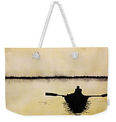 Weekender Tote Bag featuring the painting Boat Sunlight  by Edwin Alverio