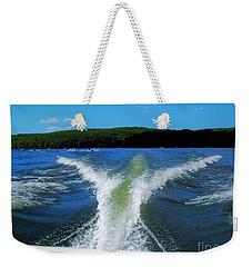 Boat Wake Weekender Tote Bag by Patti Whitten