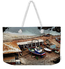 Boat Yard Iquique Harbor Chile Weekender Tote Bag