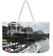 Weekender Tote Bag featuring the photograph Boat Yard by Michael Albright