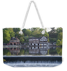 Weekender Tote Bag featuring the photograph Boathouse Row In May by Bill Cannon