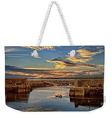 Boatman At Mullaghmore Harbour Weekender Tote Bag