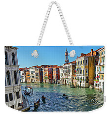 Boats And Ships In Venice Weekender Tote Bag