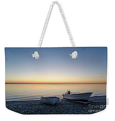Weekender Tote Bag featuring the photograph Boats At A Colorful Bay by Kennerth and Birgitta Kullman