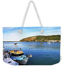 Weekender Tote Bag featuring the photograph Boats At Friendly Bay by Nareeta Martin