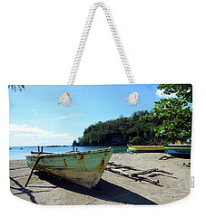 Weekender Tote Bag featuring the photograph Boats At La Soufriere, St. Lucia by Kurt Van Wagner