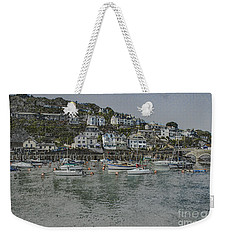 Weekender Tote Bag featuring the photograph Boats At Looe by Brian Roscorla