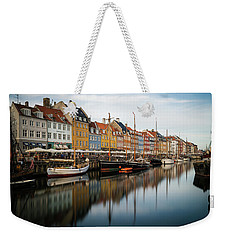 Boats At Nyhavn In Copenhagen Weekender Tote Bag
