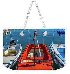 Boats At Rovinj Weekender Tote Bag