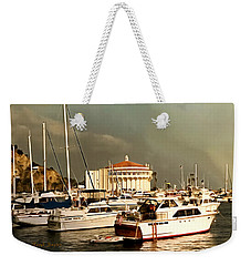 Weekender Tote Bag featuring the photograph Boats Catalina Island California by Floyd Snyder