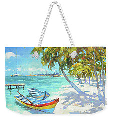 Weekender Tote Bag featuring the painting Boats  by Dmitry Spiros