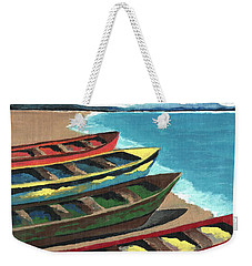 Boats In A Row Weekender Tote Bag