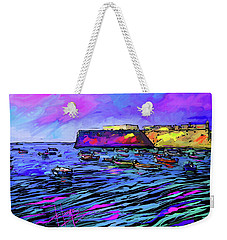 Boats In Cadiz, Spain Weekender Tote Bag