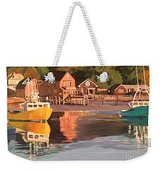 Boats In Kennebunkport Harbor Weekender Tote Bag
