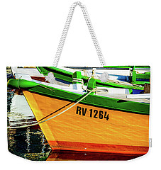 Boats In Rovinj Weekender Tote Bag