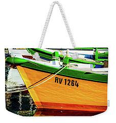 Boats In Rovinj Weekender Tote Bag