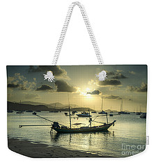 Boats In The Bay Weekender Tote Bag
