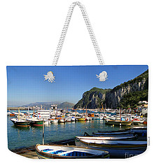 Boats In The Harbor Weekender Tote Bag