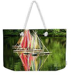 Boats Landscape Weekender Tote Bag by Manuela Constantin